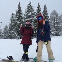 二人の真ん中のスキー場