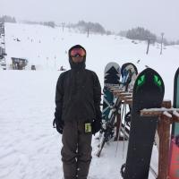 今シーズン初滑りでキリッ!