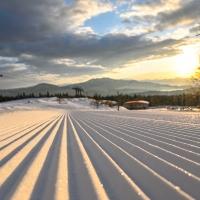 朝イチのスキー場